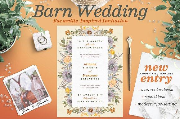 Rustic Wedding At The Barn Card I