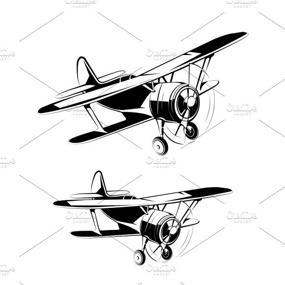 Aircraft Silhouettes Icons