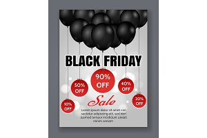 Black friday sale event poster