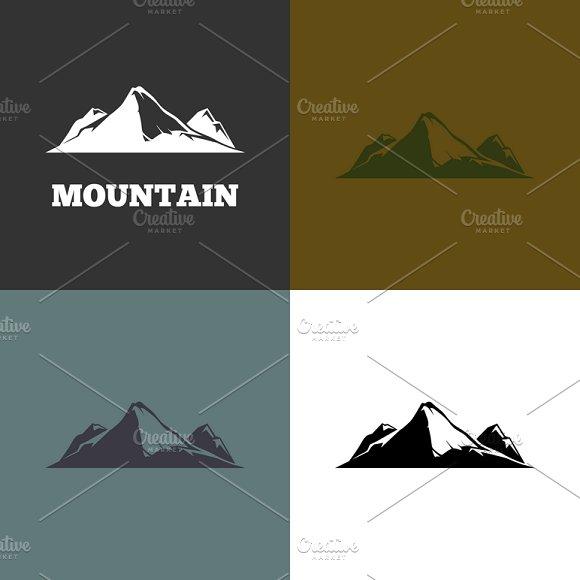 Vector Mountain Silhouette