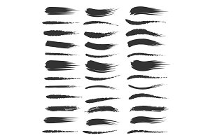 Black brushstroke set