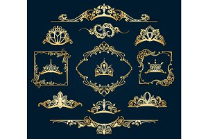 Victorian style golden decor elements