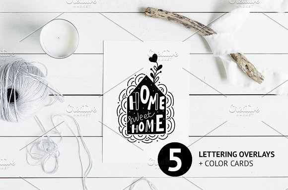 Lettering Sweet Home Decoration