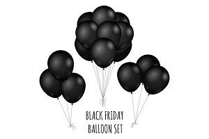Black Friday flight rubber balloons bouquet