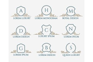 Decorative ornament text signs