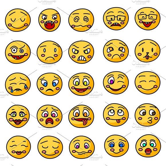 Hand Drawn Smiles Icons