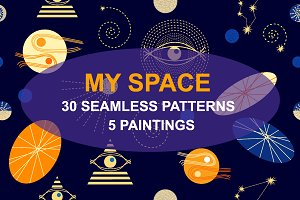 My Space. Set of Cosmic Patterns