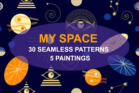 My Space Set Of Cosmic Patterns