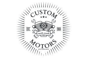 Custom motor vector t-shirt print