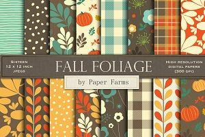 Fall foliage backgrounds