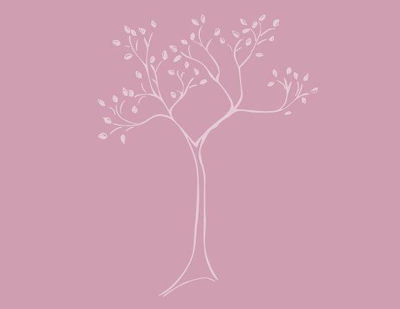Pretty Tree Sketch