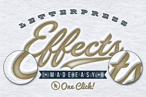 Worn Letterpress Photoshop Styles