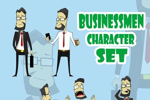 Businesmen sticker set
