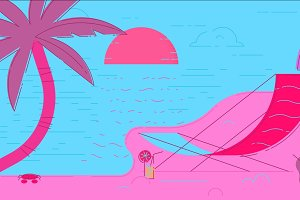 Beach Summer Illustration