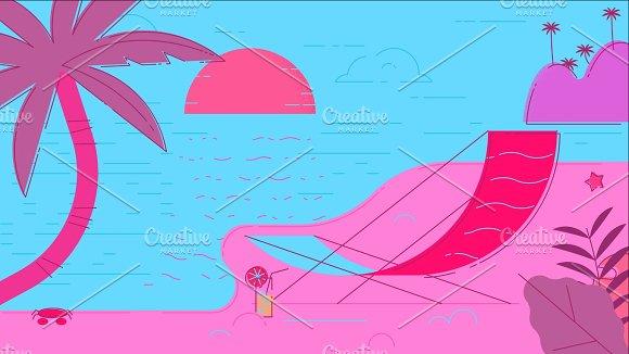 Beach Summer Illustration