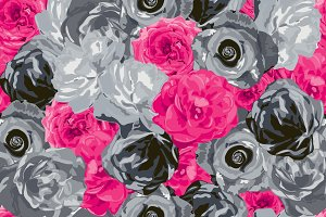 2 Roses Seamless Patterns