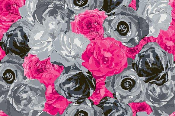 2 Roses Seamless Patterns