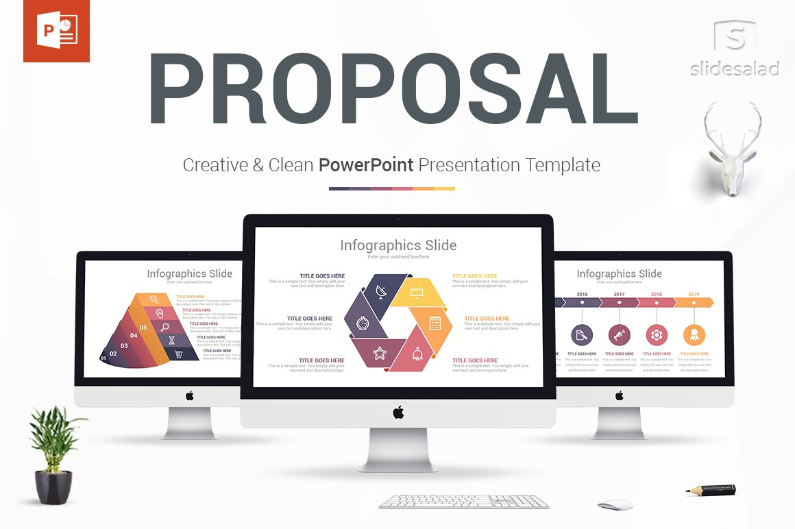 Business proposal powerpoint design presentation for Rfp presentation template