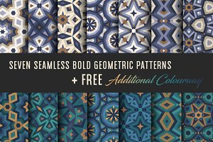 SEAMLESS GEOMETRIC VECTOR PATTERNS