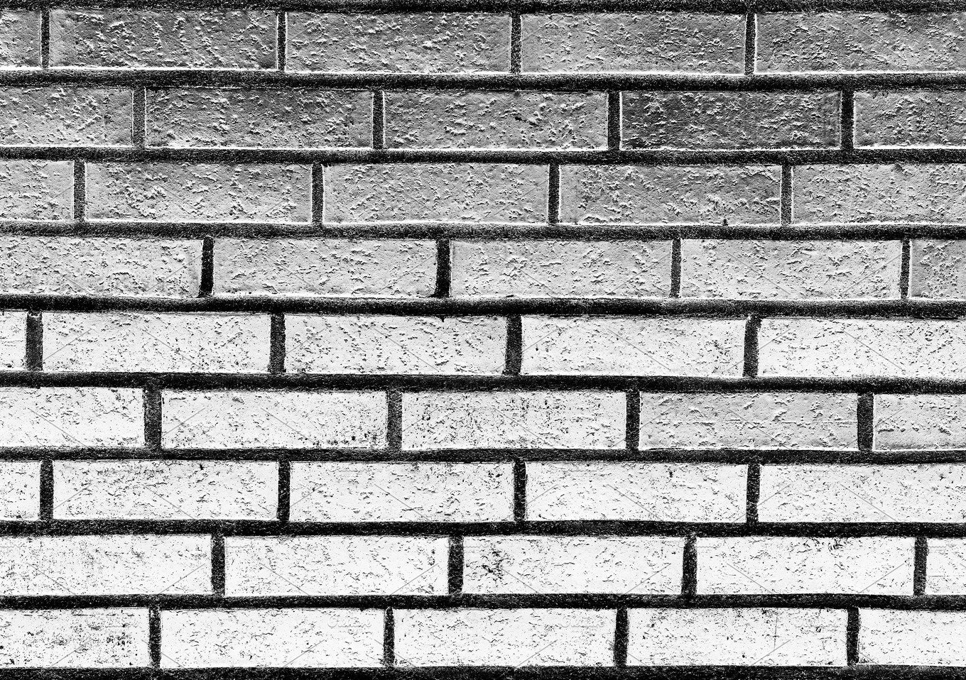 Horizontal Black And White Brick