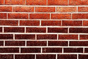 Horizontal red brick wall texture background