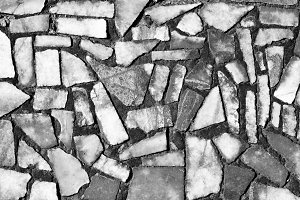 Black and white abstract tiles