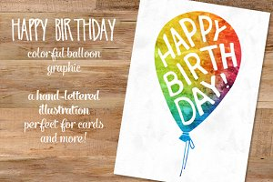 Happy Birthday balloon illustration