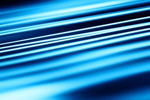 Diagonal blue motion blur panels background