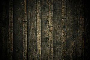 Darked edge pine wood fence