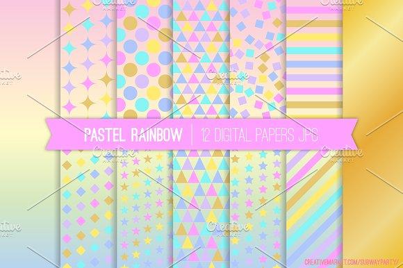 Pastel Rainbow Unicorn Papers