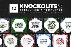Knockouts 2 - Social Media Templates