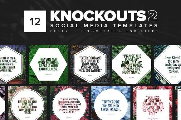 Knockouts 2 Social Media Templates