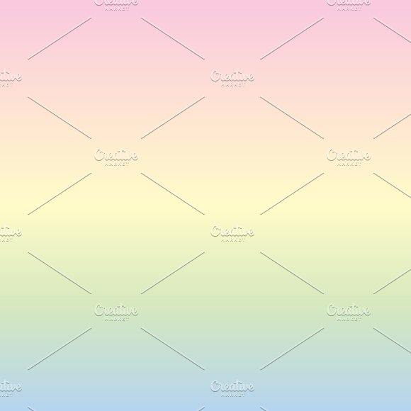 Pastel Rainbow Unicorn Papers in Patterns - product preview 2