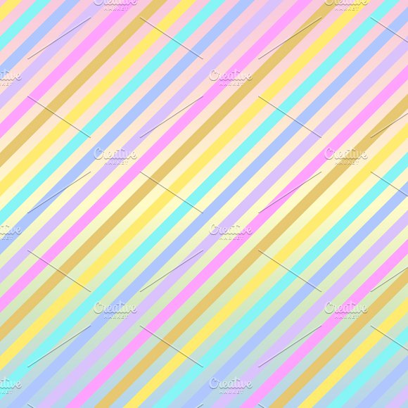 Pastel Rainbow Unicorn Papers in Patterns - product preview 4