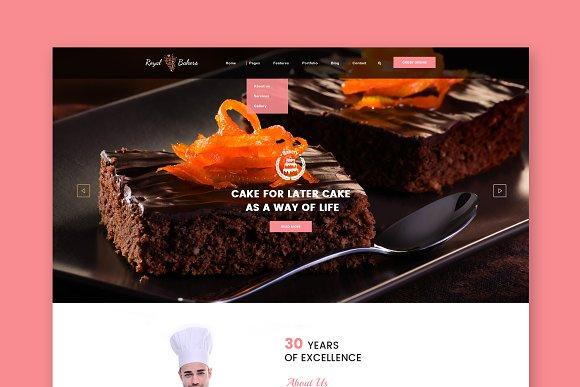 Royal Bakery Cakery HTML Template