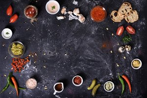 Sauces, appetizers and ingredients