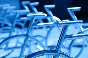 Norway steel bike detail backdrop