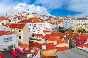 Alfama on a sunny afternoon, Lisbon, Portugal