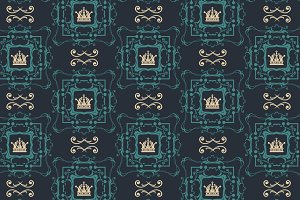 Seamless pattern in antique style