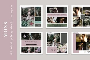 Moss, Styled Instagram Templates