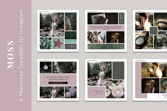 Moss Styled Instagram Templates