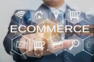 Ecommerce technology concept