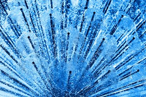 Diagonal blue fresh water city fountain background