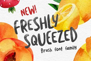 Freshly Squeezed - Typeface