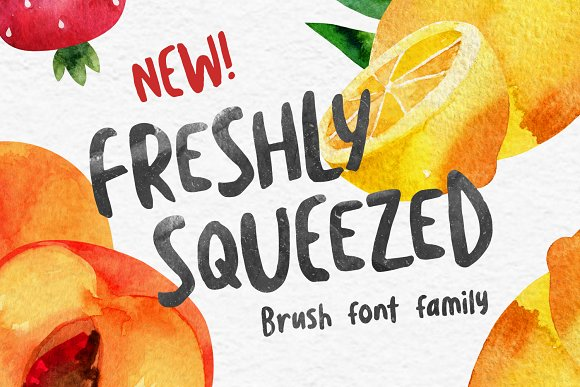 Freshly Squeezed Typeface