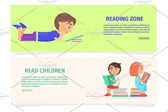 Children Reading Zone Information Illustration