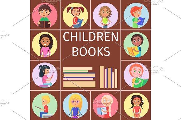 Children Books Pile Of Letters For Reading Kids