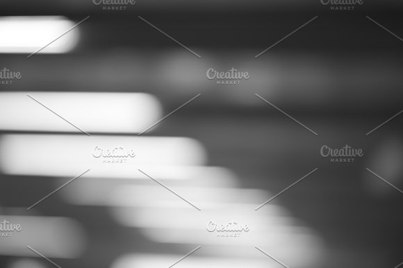 Horizontal Black And White Office Lamps Bokeh Background
