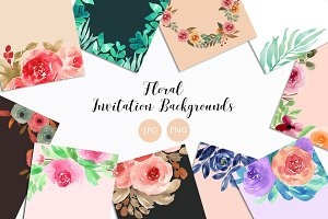 Floral Invitation Backgrounds