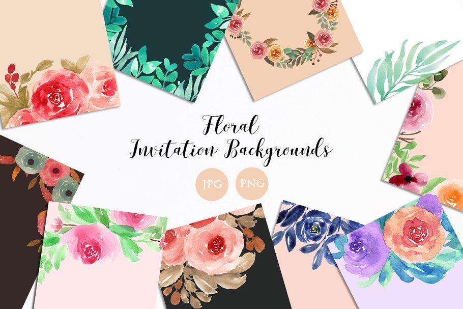 Floral Invitation Backgrounds